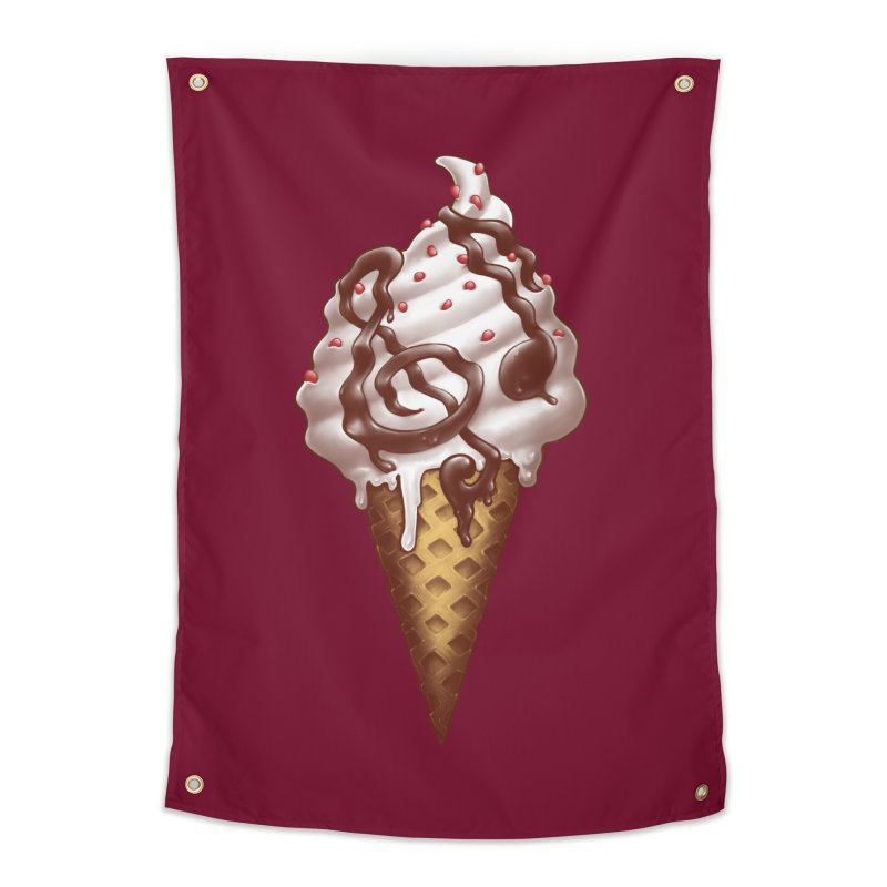 Ice Cream Music Note Home Tapestry by c0y0te7's Artist Shop