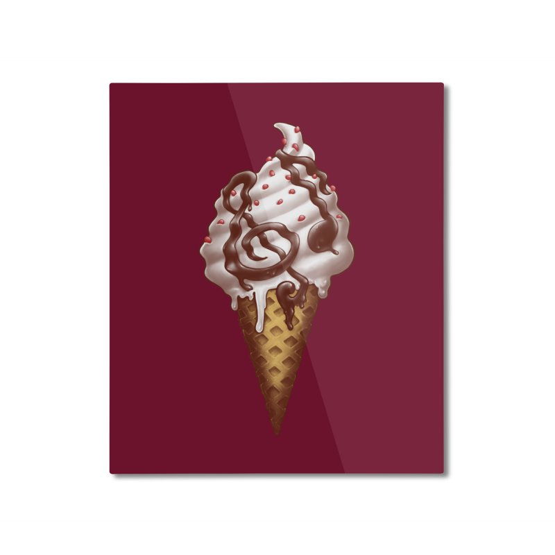 Ice Cream Music Note Home Mounted Aluminum Print by c0y0te7's Artist Shop