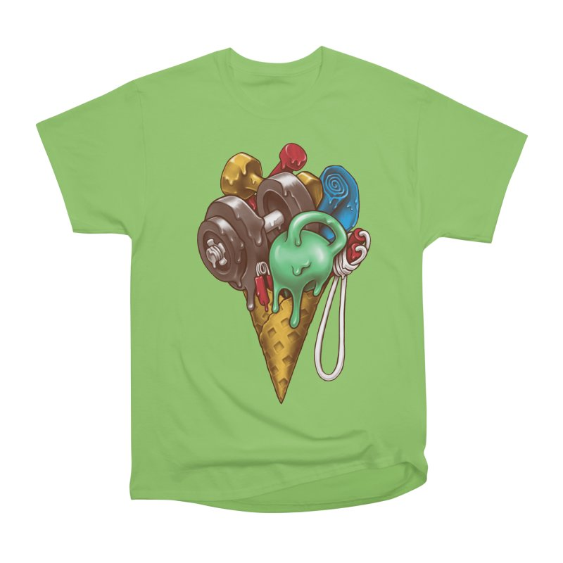 Ice Cream Workout Men's Heavyweight T-Shirt by c0y0te7's Artist Shop