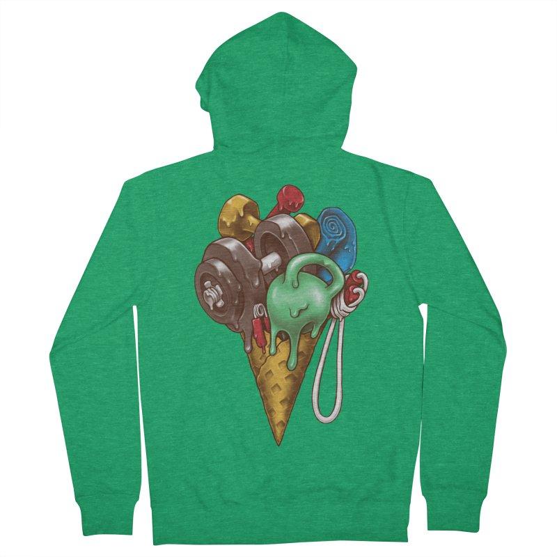 Ice Cream Workout Women's Zip-Up Hoody by c0y0te7's Artist Shop