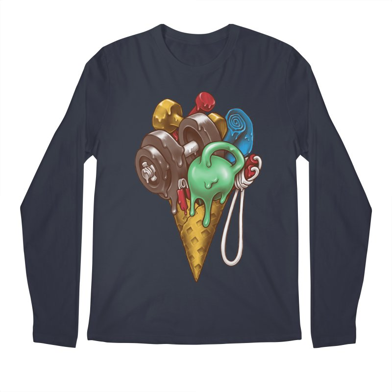 Ice Cream Workout Men's Regular Longsleeve T-Shirt by c0y0te7's Artist Shop