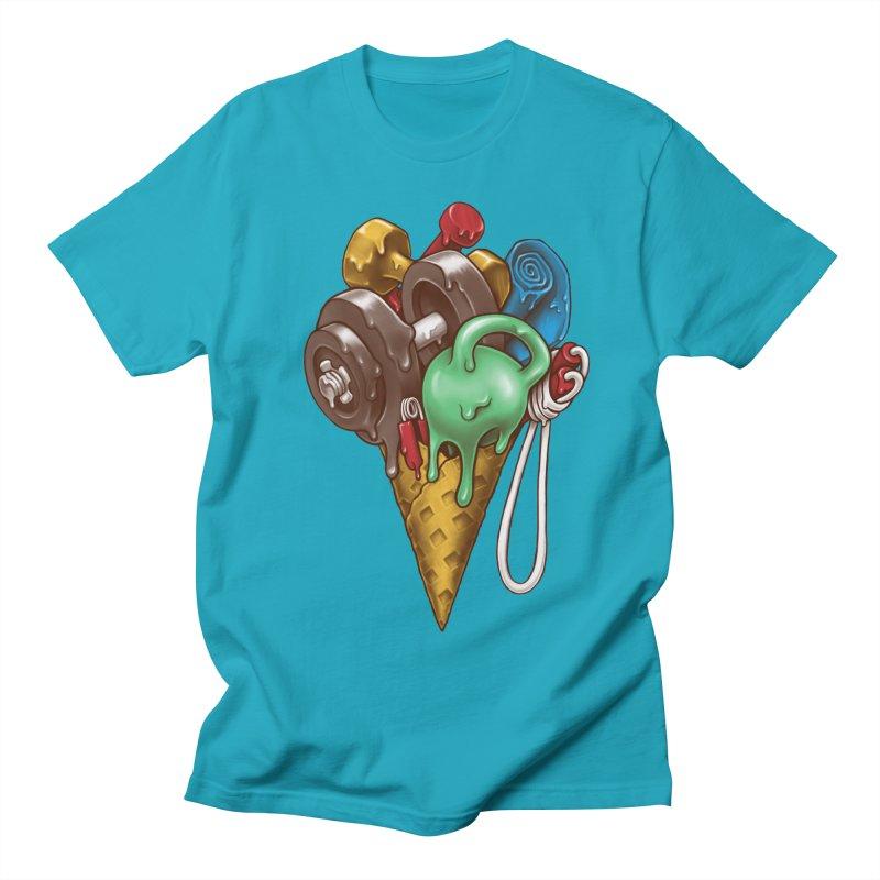 Ice Cream Workout Men's Regular T-Shirt by c0y0te7's Artist Shop