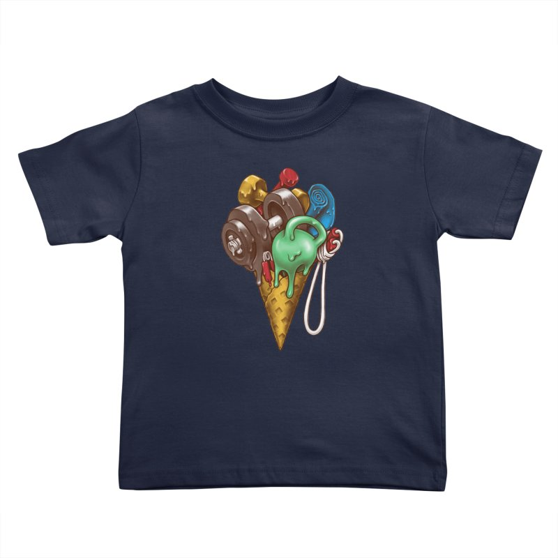Ice Cream Workout Kids Toddler T-Shirt by c0y0te7's Artist Shop