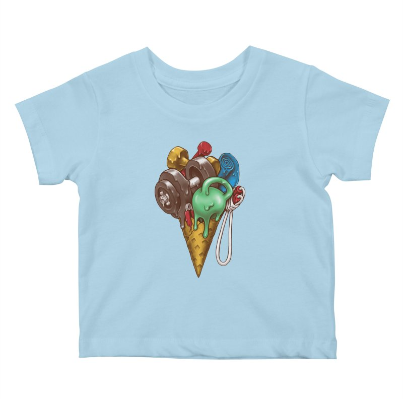 Ice Cream Workout Kids Baby T-Shirt by c0y0te7's Artist Shop