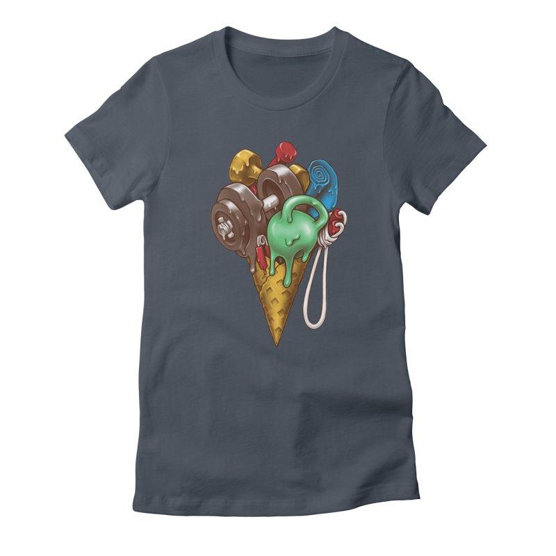Ice Cream Workout Women's T-Shirt by c0y0te7's Artist Shop