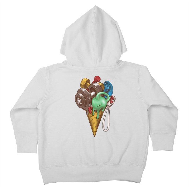 Ice Cream Workout Kids Toddler Zip-Up Hoody by c0y0te7's Artist Shop