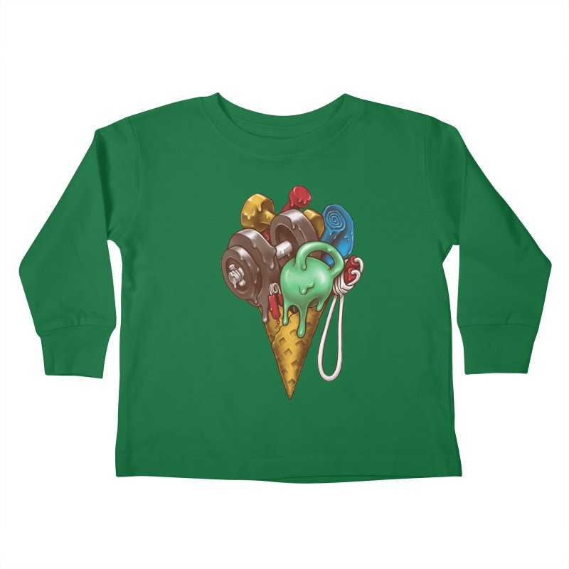 Ice Cream Workout Kids Toddler Longsleeve T-Shirt by c0y0te7's Artist Shop