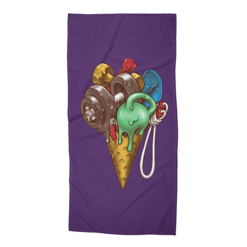 Ice Cream Workout Accessories Beach Towel by c0y0te7's Artist Shop