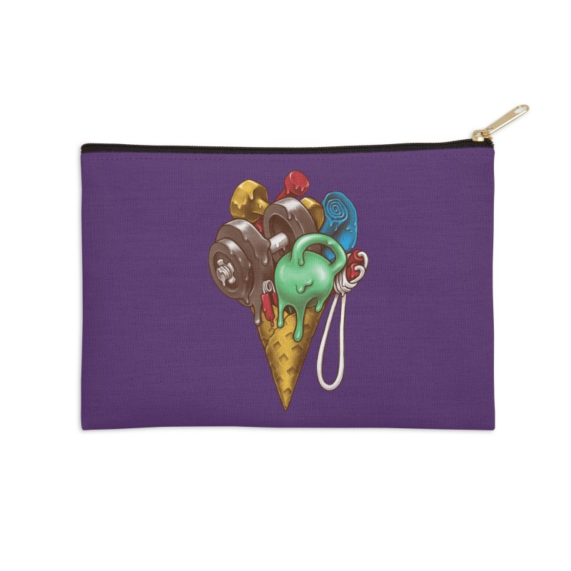 Ice Cream Workout Accessories Zip Pouch by c0y0te7's Artist Shop