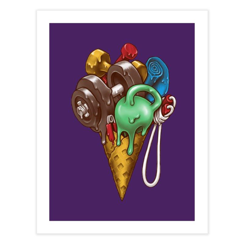 Ice Cream Workout Home Fine Art Print by c0y0te7's Artist Shop