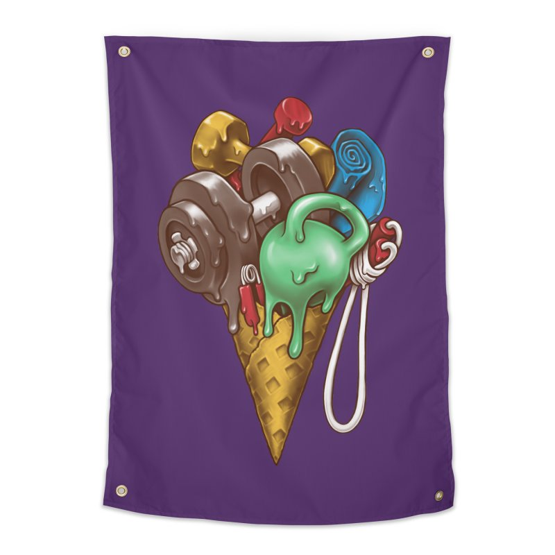 Ice Cream Workout Home Tapestry by c0y0te7's Artist Shop