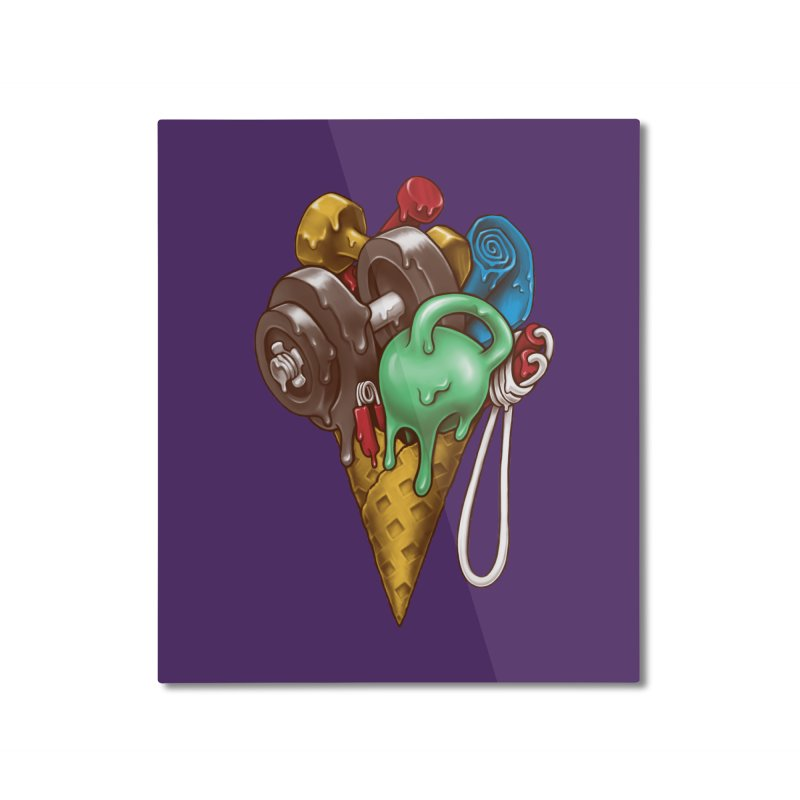 Ice Cream Workout Home Mounted Aluminum Print by c0y0te7's Artist Shop