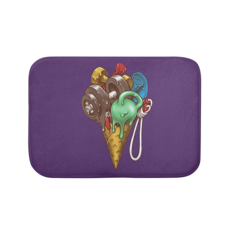 Ice Cream Workout Home Bath Mat by c0y0te7's Artist Shop