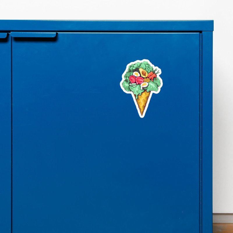 Ice Cream Salad Accessories Magnet by c0y0te7's Artist Shop
