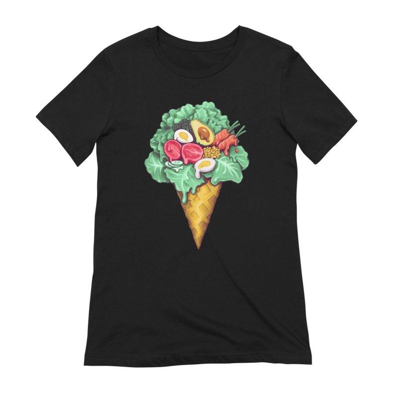 Ice Cream Salad Women's Extra Soft T-Shirt by c0y0te7's Artist Shop