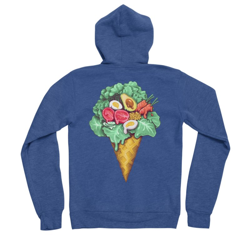 Ice Cream Salad Women's Sponge Fleece Zip-Up Hoody by c0y0te7's Artist Shop
