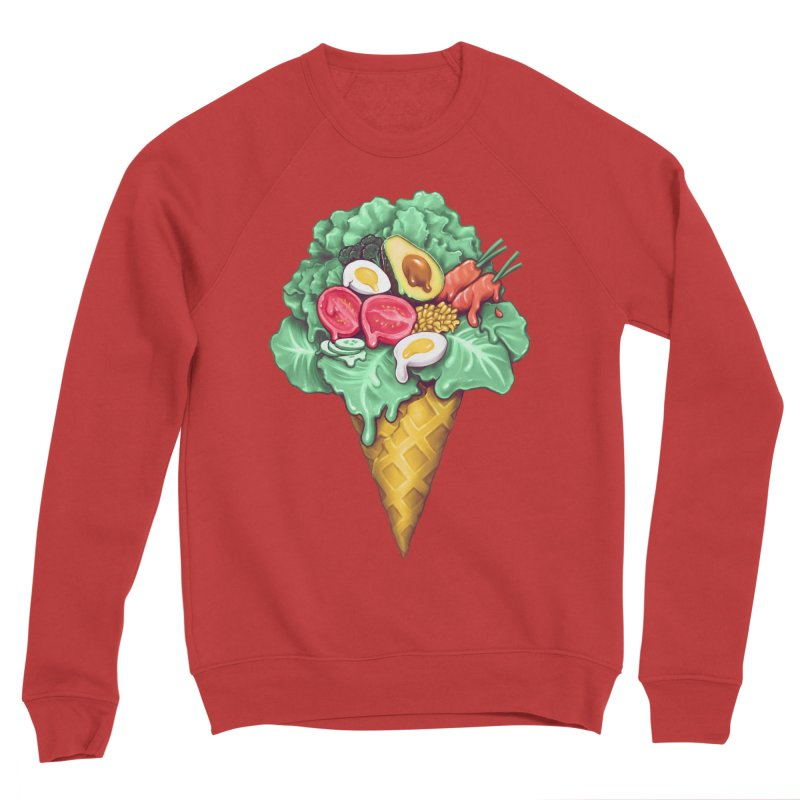 Ice Cream Salad Women's Sponge Fleece Sweatshirt by c0y0te7's Artist Shop