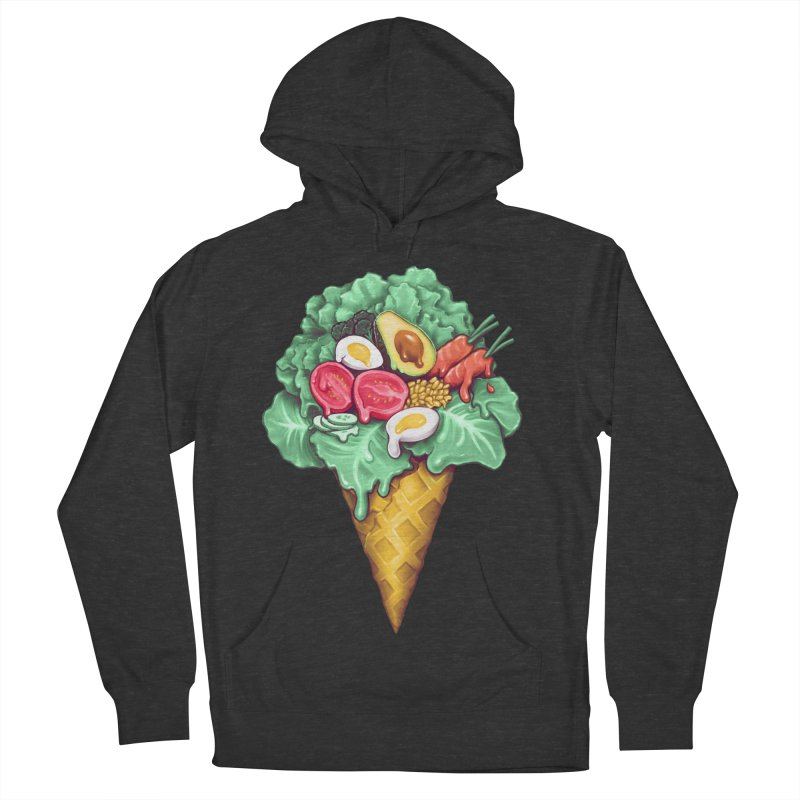 Ice Cream Salad Women's French Terry Pullover Hoody by c0y0te7's Artist Shop