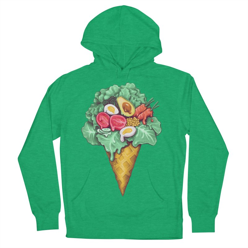 Ice Cream Salad Men's French Terry Pullover Hoody by c0y0te7's Artist Shop