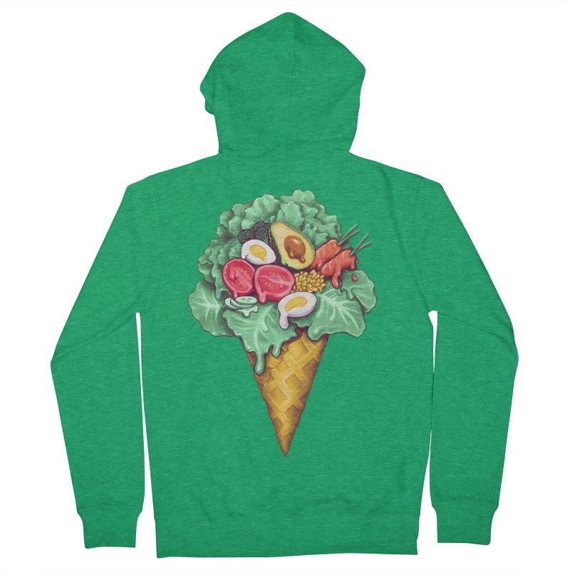 Ice Cream Salad Men's Zip-Up Hoody by c0y0te7's Artist Shop