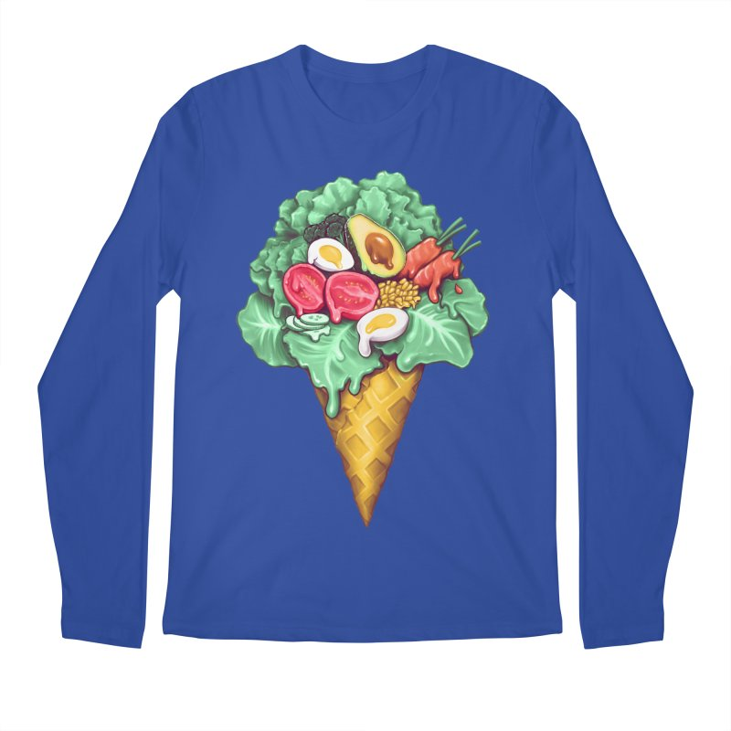 Ice Cream Salad Men's Regular Longsleeve T-Shirt by c0y0te7's Artist Shop