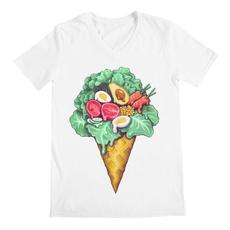 Ice Cream Salad Men's V-Neck by c0y0te7's Artist Shop