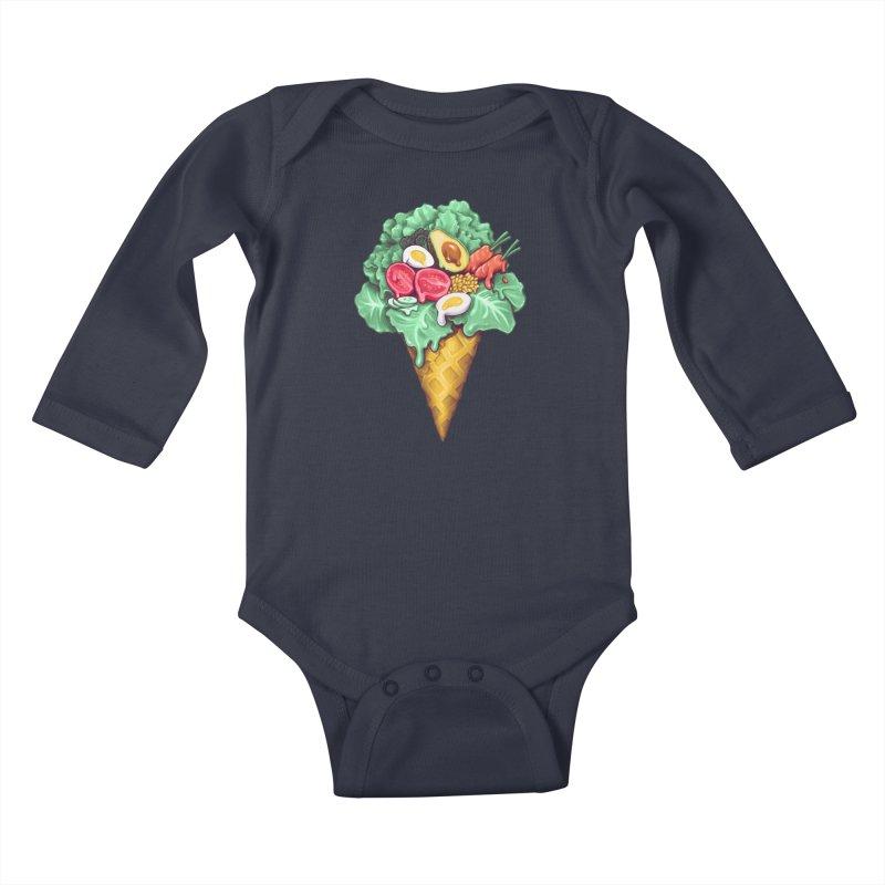 Ice Cream Salad Kids Baby Longsleeve Bodysuit by c0y0te7's Artist Shop