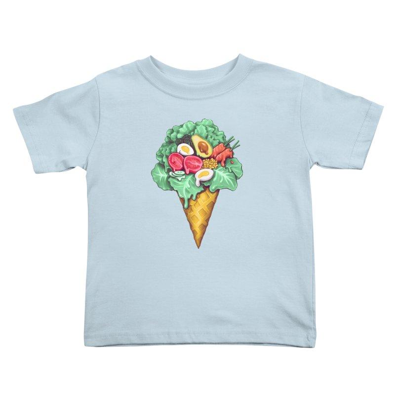 Ice Cream Salad Kids Toddler T-Shirt by c0y0te7's Artist Shop