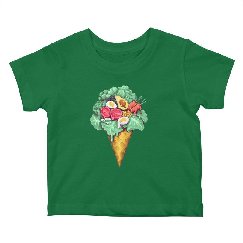 Ice Cream Salad Kids Baby T-Shirt by c0y0te7's Artist Shop