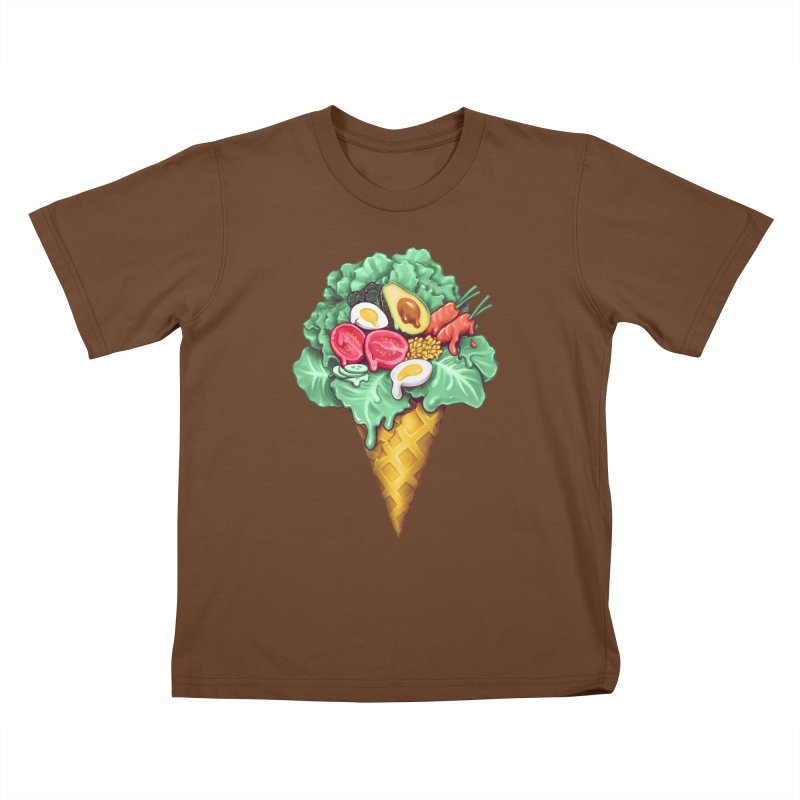 Ice Cream Salad Kids T-Shirt by c0y0te7's Artist Shop