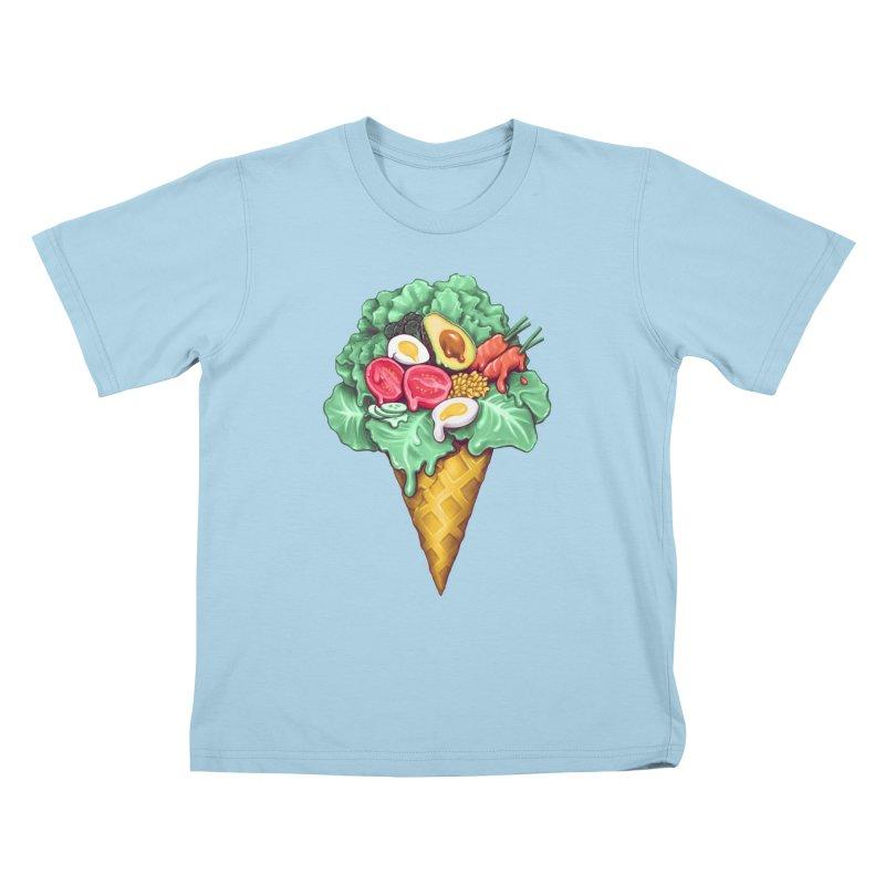 Ice Cream Salad Kids T-Shirt by c0y0te7's Artist Shop