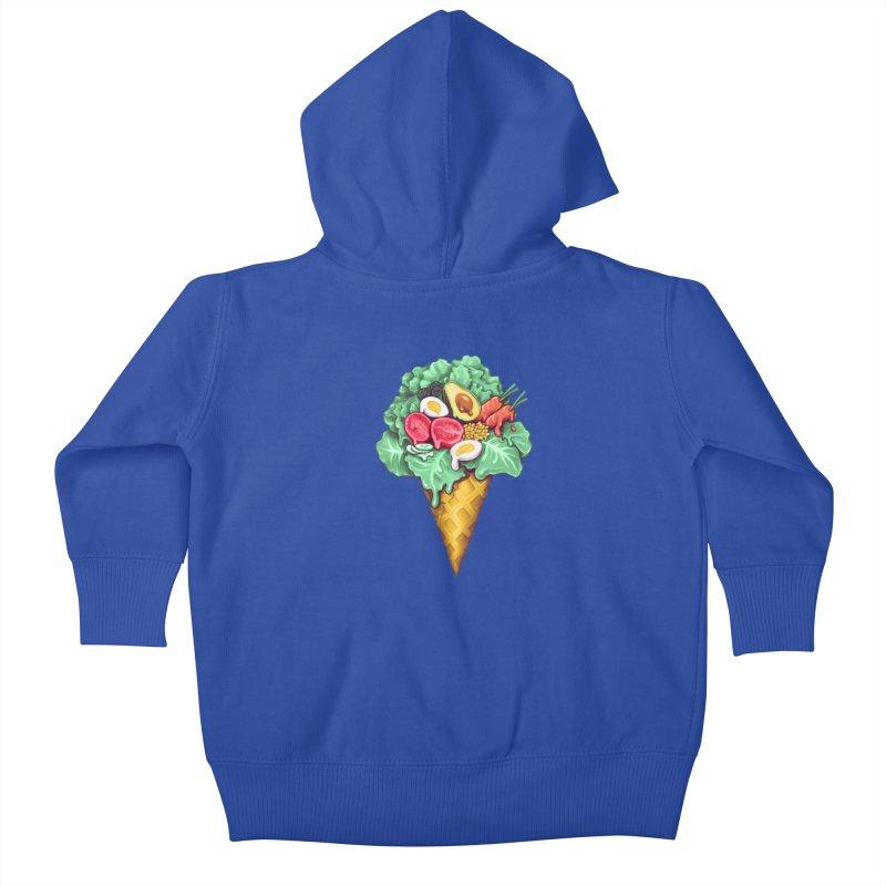 Ice Cream Salad Kids Baby Zip-Up Hoody by c0y0te7's Artist Shop