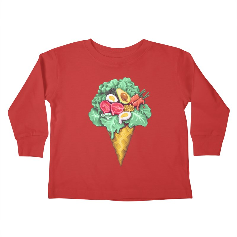 Ice Cream Salad Kids Toddler Longsleeve T-Shirt by c0y0te7's Artist Shop