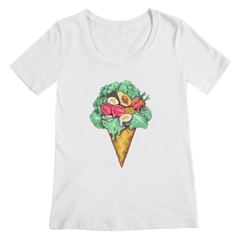 Ice Cream Salad Women's Regular Scoop Neck by c0y0te7's Artist Shop