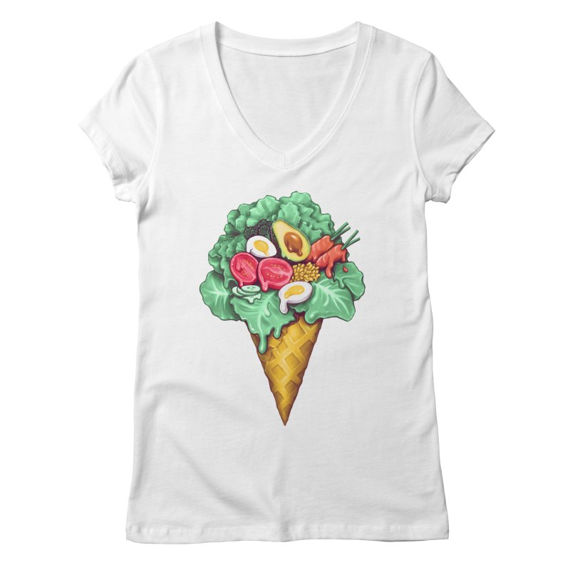 Ice Cream Salad Women's Regular V-Neck by c0y0te7's Artist Shop