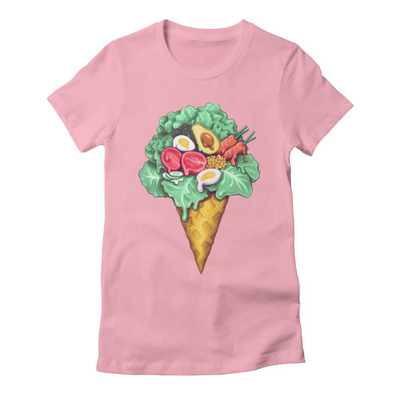 Ice Cream Salad Women's Fitted T-Shirt by c0y0te7's Artist Shop