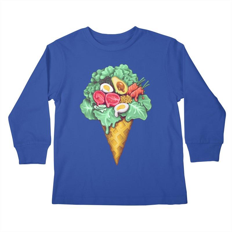 Ice Cream Salad Kids Longsleeve T-Shirt by c0y0te7's Artist Shop