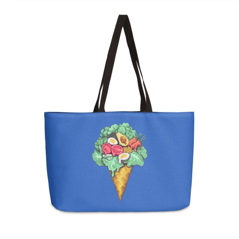 Ice Cream Salad Accessories Weekender Bag Bag by c0y0te7's Artist Shop