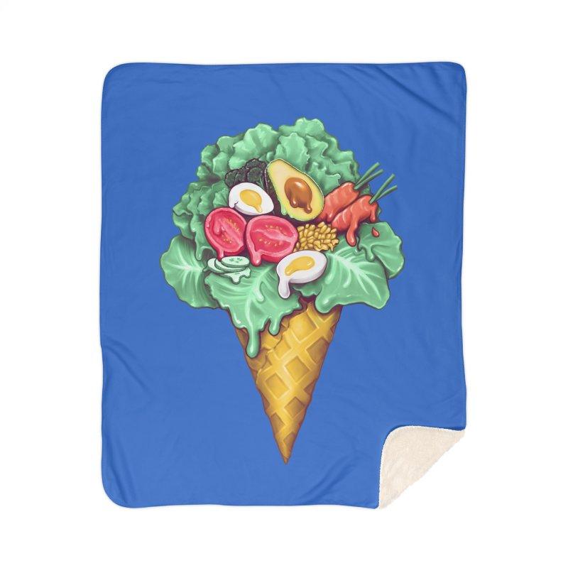 Ice Cream Salad Home Sherpa Blanket Blanket by c0y0te7's Artist Shop