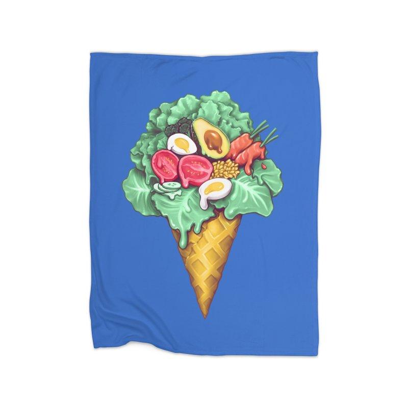 Ice Cream Salad Home Fleece Blanket Blanket by c0y0te7's Artist Shop