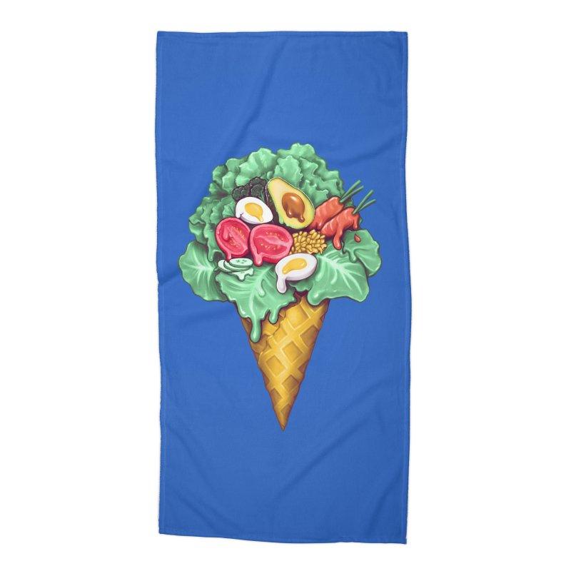 Ice Cream Salad Accessories Beach Towel by c0y0te7's Artist Shop