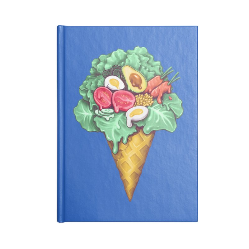 Ice Cream Salad Accessories Blank Journal Notebook by c0y0te7's Artist Shop
