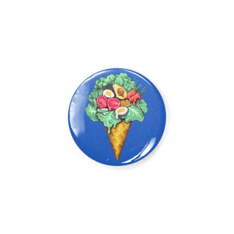 Ice Cream Salad Accessories Button by c0y0te7's Artist Shop