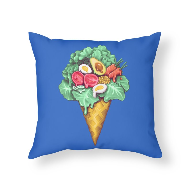 Ice Cream Salad Home Throw Pillow by c0y0te7's Artist Shop