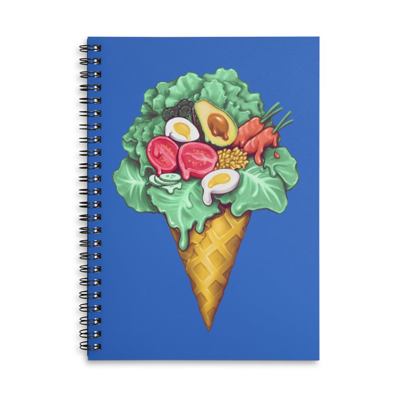 Ice Cream Salad Accessories Lined Spiral Notebook by c0y0te7's Artist Shop