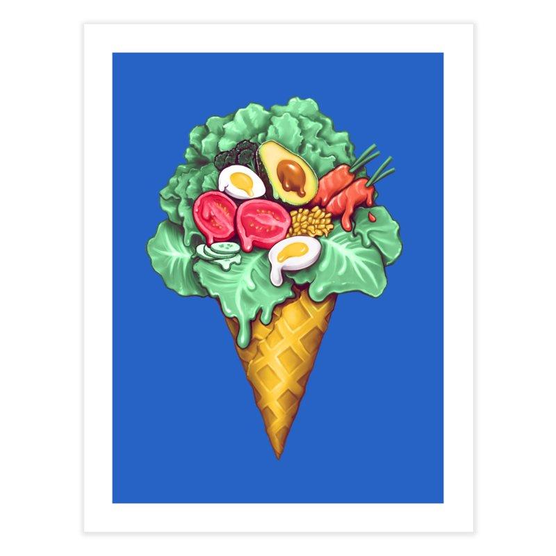 Ice Cream Salad Home Fine Art Print by c0y0te7's Artist Shop