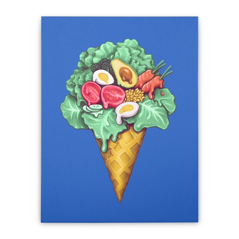 Ice Cream Salad Home Stretched Canvas by c0y0te7's Artist Shop