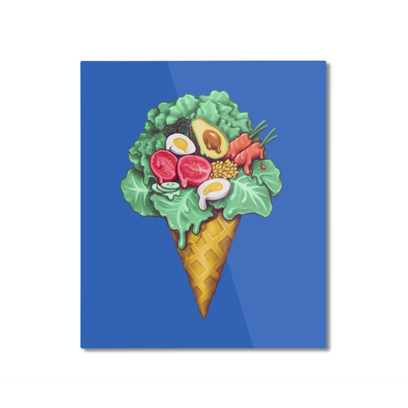 Ice Cream Salad Home Mounted Aluminum Print by c0y0te7's Artist Shop