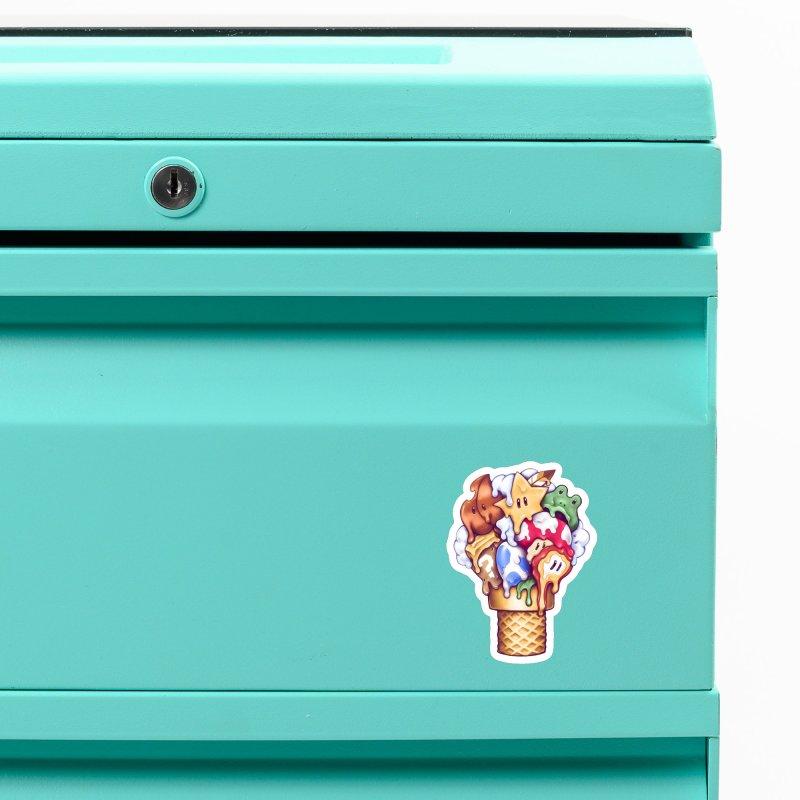 Ice Cream Power Up Accessories Magnet by c0y0te7's Artist Shop