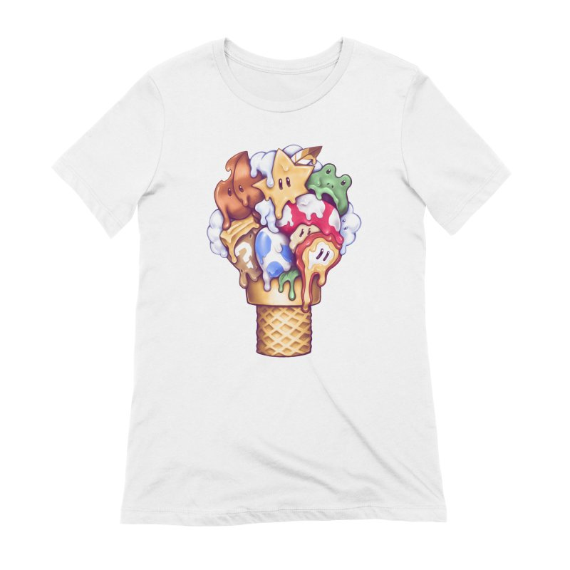 Ice Cream Power Up Women's Extra Soft T-Shirt by c0y0te7's Artist Shop